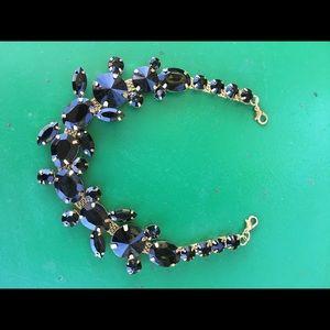 Jewelry - Black crystal chocker extender